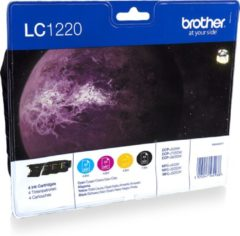 Brother Inkt Brother LC-1220 VALBPDR (B/C/M/Y) / Value Pack (LC1220VALBPDR)