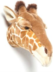 Bruine Wild & Soft Dierenkop Giraf - Ruby - muurornament - Wild & Soft