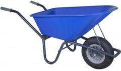 Kruiwagenwinkel.nl Kruiwagen gecoat 100 liter blauw - Binnenband