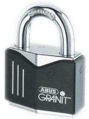 Zwarte August Bremicker Sohne KG ABUS Hangslot 37/55 Granit, gehard staal, premium protection