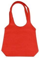 Rode opvouwbare tas met hengsels 43 x 41 cm - Shopper
