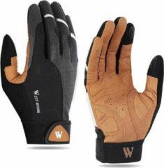 Merkloos / Sans marque Fiets Handschoenen - Bruin - Heren - Dames - Unisex - Hand Schoenen - Mountainbike - Racefiets - Maat M