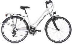 KS Cycling Damen-Trekkingrad, 28 Zoll, weiß, Shimano Toruney 21 Gang-Kettenschaltung, »Metropolis«