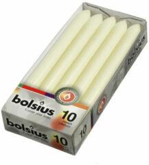 Witte 4 stuks Bolsius Dinerkaars 230x20mm ds 10 ivoor