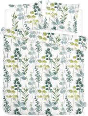 ISeng Floral - Dekbedovertrek - Eenpersoons - 140x200/220 cm + 1 kussensloop 60x70 cm - Groen