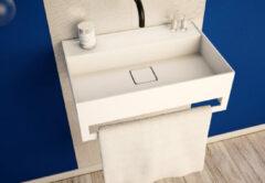 SSI Design Solid Blinc 60TB wastafel 60x40x20cm mat wit