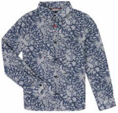 Blauwe Overhemd Lange Mouw Ikks XR12023