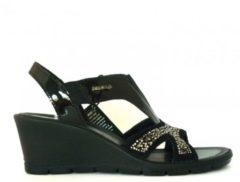 Enval soft Donna sandalo con zeppa elegante 79870 - NERO, 35