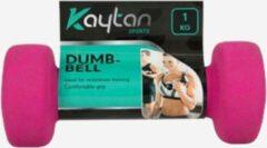 Roze Kaytan Dumbbells set-zachte Dumbbells pink 2 x 1 KG