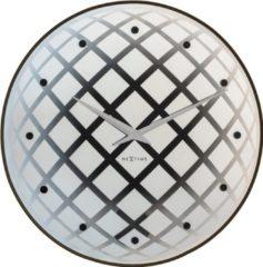 NeXtime Pendula Round - Klok - Slinger - Glas - Rond - Ø45 cm - Zilver