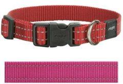 Rogz for Dogs Snake Hondenhalsband Verstelbaar Roze 40 x 1,6 cm