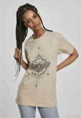 Creme witte Urban Classics Dames Tshirt -XL- Moth Creme