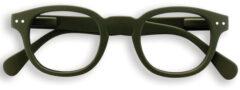 Donkergroene IZIPIZI #C leesbril met klassiek montuur
