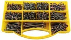 US.PRO Tools by Bergen Houtschroef / Verzinkschroef assortiment 780-delig in assortimentsdoos