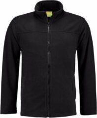 L&S Zwart fleece vest met rits voor volwassenen L (40/52)