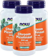 Now Foods Now Chroom Picolinaat 200 Mcg Trio (3x 100cap)