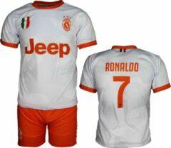Merkloos / Sans marque Juventus Replica Cristiano Ronaldo CR7 Uit Tenue Voetbalshirt + Broek Set Seizoen 2019/2020 Wit, Maat: XL