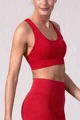 Rode REVIVE Sportswear REVIVE seamless Sport bh TROFA - duurzaam - met uitneembare cups