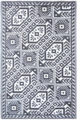 Esschert Design Buitentapijt Diamant 180x121 cm zwart en wit OC36