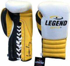 Legend Sports Bokshandschoenen Legendary Fighters Geel/wit/zwart Mt 8oz