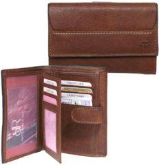 Bruine DR Amsterdam Waxi Damesportemonnee 11cc chestnut Dames portemonnee