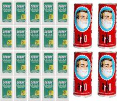 Derby Professional Derby double edge blades 20-pack met gratis arko scheerzeep (4st) - klassiek scheermes - scheermesjes