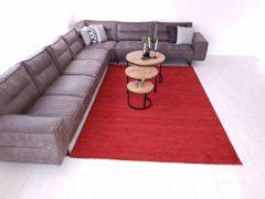 Flycarpets Minori Modern Gemeleerd Effen Rood Vloerkleed 80 X 150 Cm
