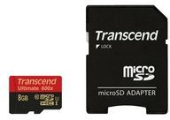 Transcend Information Transcend Ultimate - Flash-Speicherkarte ( microSDHC/SD-Adapter inbegriffen ) - 8 GB TS8GUSDHC10U1