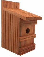 Garden Spirit - Vogelhuisje Pimpelmees Nestkast Vlonderhout - Roodbruin - Ø 27 mm - Vogels