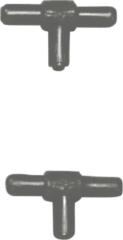 Zwarte Europet Bernina Ebi T-Stuk - Verbindingsstuk - 2 st