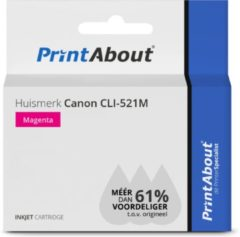 PrintAbout - Inktcartridge / Alternatief voor de Canon CLI-521M / Magenta