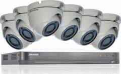 HIKVISION 5MP CCTV BEVEILIGINGSSYSTEEM 4K DVR 8CH H.265 + HIK 5 MP 2.8MM 6X CAMERA'S BUITEN NACHTZICHT KIT HANDEL UK VERKOPER DS-7208HUHI-K1 DS-2CE56H1T-ITM Geen HDD Witte camera