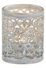 Merkloos / Sans marque Waxinelicht/theelicht houder zilver antiek 7 cm - Woonaccessoires/woondecoraties kaarsenhouders