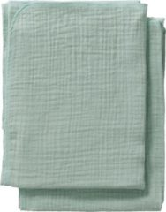 Cottonbaby multidoek soft S 60 x 70 cm oudgroen - set van 2