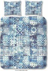 Dekbedovertrek ZouZou Katoen-satijn nr.2115 - Blauw - Ernesto Maat: 155x220+1-80x80cm