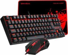 Rode Redragon K552 BA Value Combo 3 in 1 Gaming set - Anti-Ghosting Mechanische K552 Kumara Gamingtoetsenbord , M601 3200 DPI Gaming muis & Archelon Gaming muismat