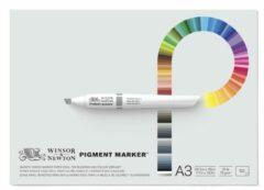 Witte Winsor & Newton Pigment Marker papier blok A3