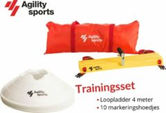 Trainingsset Agility Sports | Loopladder | trainingsladder | Speedladder | Pionnenset | Wit |