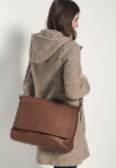 Hessnatur Damen Unisex Tasche aus Leder – orange – Größe 1size