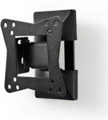 Zwarte Valueline Nedis muurbeugel voor schermen tot 32 inch / full motion (1 draaipunt)