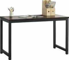 En.casa Bureau laptoptafel Herning 120x60x75 cm zwart en walnoot