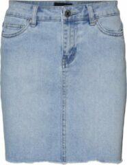 Lichtblauwe Vero Moda VMFAITH MR SHORT DNM SKIRT MIX GA NOOS Dames Rok - Maat XL