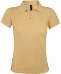 Bruine Polo Shirt Korte Mouw Sols PRIME ELEGANT WOMEN