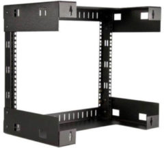 StarTech.com 8HE 19'' Open Frame Geräte Rack Wandmontagefähig - 30cm Tief - Schrank - Schwarz - 8U - 48.3 cm (19'') RK812WALLO