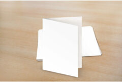 Dubbele kaarten Raadhuis 105x - 150mm 275grs wit 25 stuks