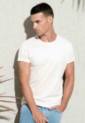 Kariban Wit Heren-t-shirt BIO-katoen ronde hals Maat S