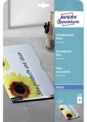 Avery-Zweckform Transparante zelfklevende folies A4 inkjet 2500, 10 stuk(s)
