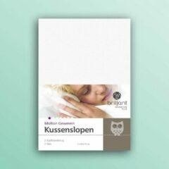 Boxspring Company Briljant Bedmode Molton Kussensloop - set 2 stuks - 60 cm x 70 cm - Wit