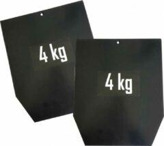Sveltus Gewichten Voor Vest Staal Zwart 4 Kilo 2 Stuks