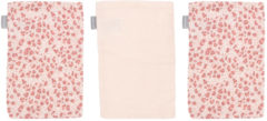 Roze Bébé-jou Bebe-Jou Leopard Hydrofiel Washand Pink 3 Stuks